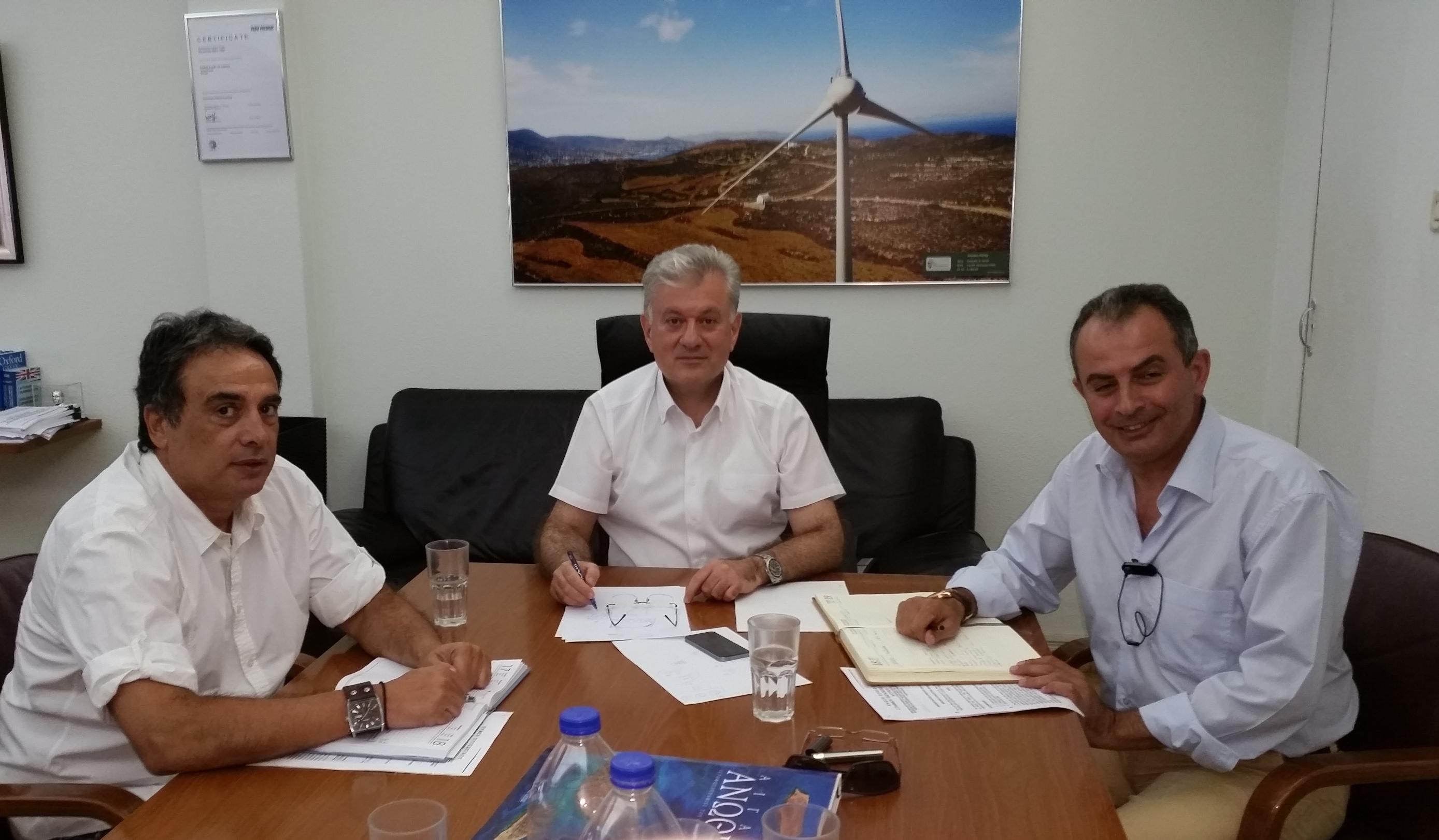 Συνάντηση ΓΕΝΟΠ/ΔΕΗ με το Γ.Διευθυντή Παραγωγής Γ.Κοπανάκη