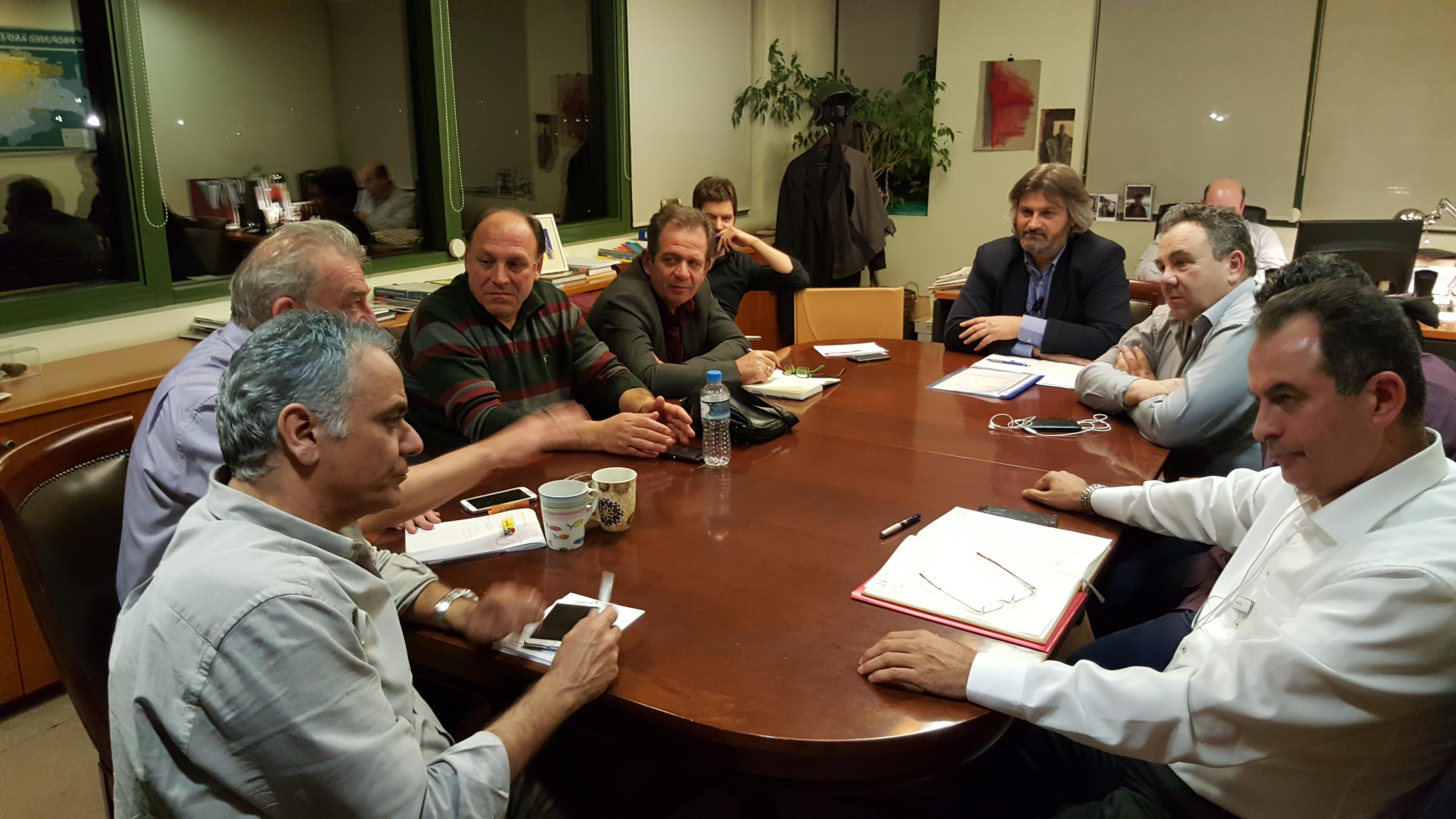 Συνάντηση ΓΕΝΟΠ – ΣΠΑΡΤΑΚΟΥ με τον Υπουργό ΠΕΝ κ. Σκουρλέτη, με αφορμή τα απεργιακά μέτρα  του Σωματείου.