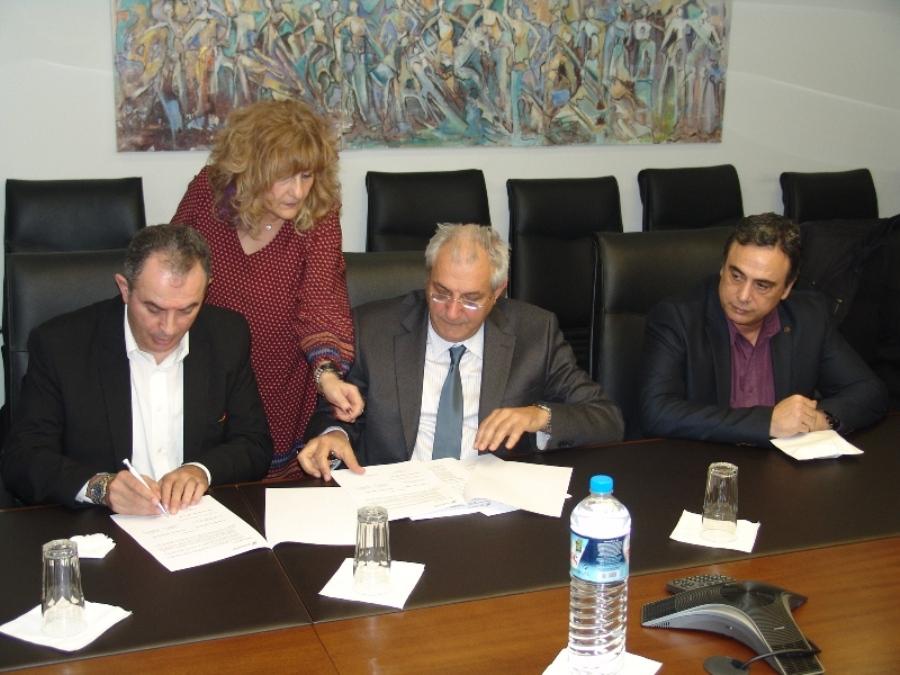 29/3/2016 - υπογραφή συμπληρ. ΣΣΕ με ΔΕΔΔΗΕ