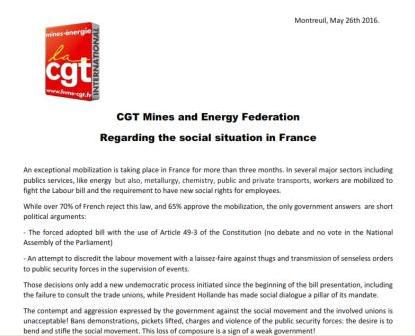 Επιστολή CGT