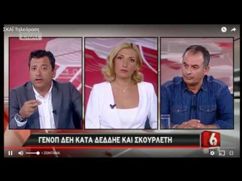 Ο Γιώργος Αδαμίδης στην τηλεόραση ΣΚΑΙ για τις ανεξόφλητες οφειλές προς τη ΔΕΗ και την άνανδρη επίθεση σε συνάδελφο, στη Ζάκυνθο