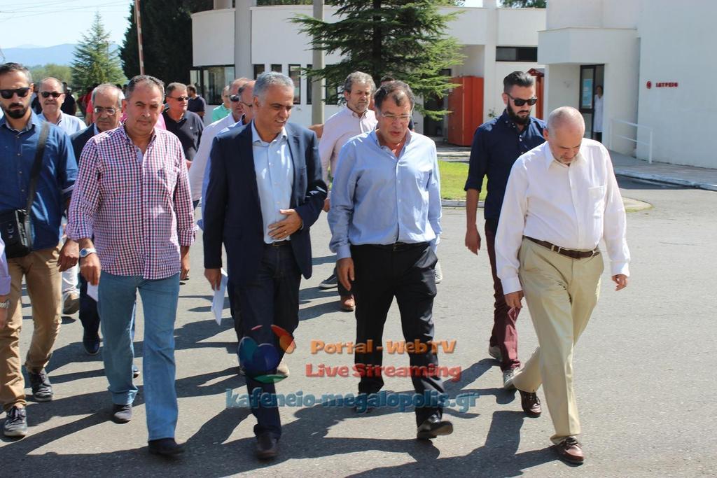 Επίσκεψη του υπουργού Περιβάλλοντος και Ενέργειας Π. Σκουρλέτη στη Μεγαλόπολη