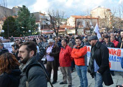 Συλλαλητήριο ενάντια στο ξεπούλημα της ΔΕΗ. Φλώρινα 4/12/2017