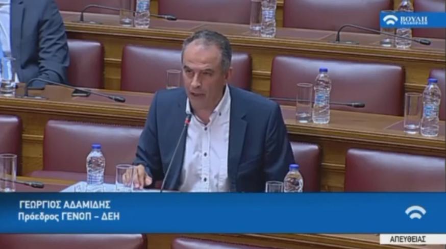 Ο προεδρος της ΓΕΝΟΠ/ΔΕΗ στην Επιτροπή της Βουλής μιλά για ΝΟΜΕ και ΑΠΕ